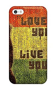 Anti-scratch Case Cover LightTower Protective Bob Marley Love The Life You Live Case For Iphone 5/5s