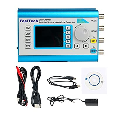 120038 20MHz High Precision DDS Function/Arbitrary Waveform Generator with 2.4'' TFT LCD Digital Dual-channel 200MSa/s ,100MHz Frequency Meter Signal Generator FY2300