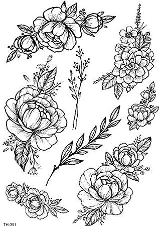 Amscan TH391 - Adhesivo para tatuaje, diseño de rosas: Amazon.es ...