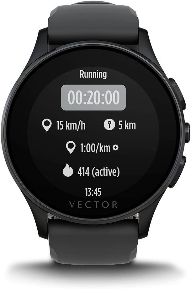 Amazon.com: Vector reloj luna Smartwatch, Luna, negro/negro ...
