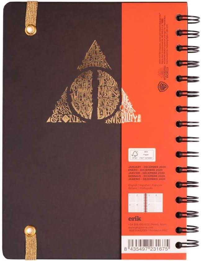 Limited Edition Agenda annuale 2020 Harry Potter multiuso: scuola 12 mesi casa settimanale Erik/® lavoro A5