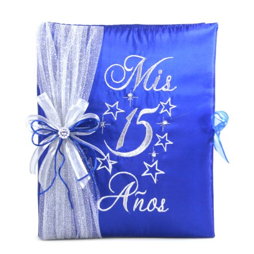 Select Your Choice of Quinceanera Photo Album Guest Book Kneeling Tiara Pillow Bible Q3002 (Guest Book)