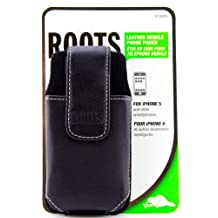Roots Vertical Leather Belt Clip Holster for iPhone 5S, iPhone 5C and iPhone 5