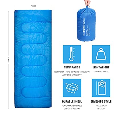 Active Era Premium Lightweight Single Sleeping Bag – Warm and Water Resistant, Perfect for Indoor Use or Outdoor Camping, Hiking, Fishing & Travelling