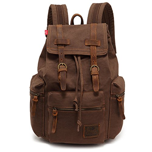 sechunk-multifunction-cotton-canvas-leather-backpack-bookbag-laptop-bag-working-bag-travel-duffel-ba