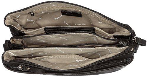 Tamaris Damen Franca Crossbody Bag M Umhängetasche, 18x6x21 cm Schwarz (Black)