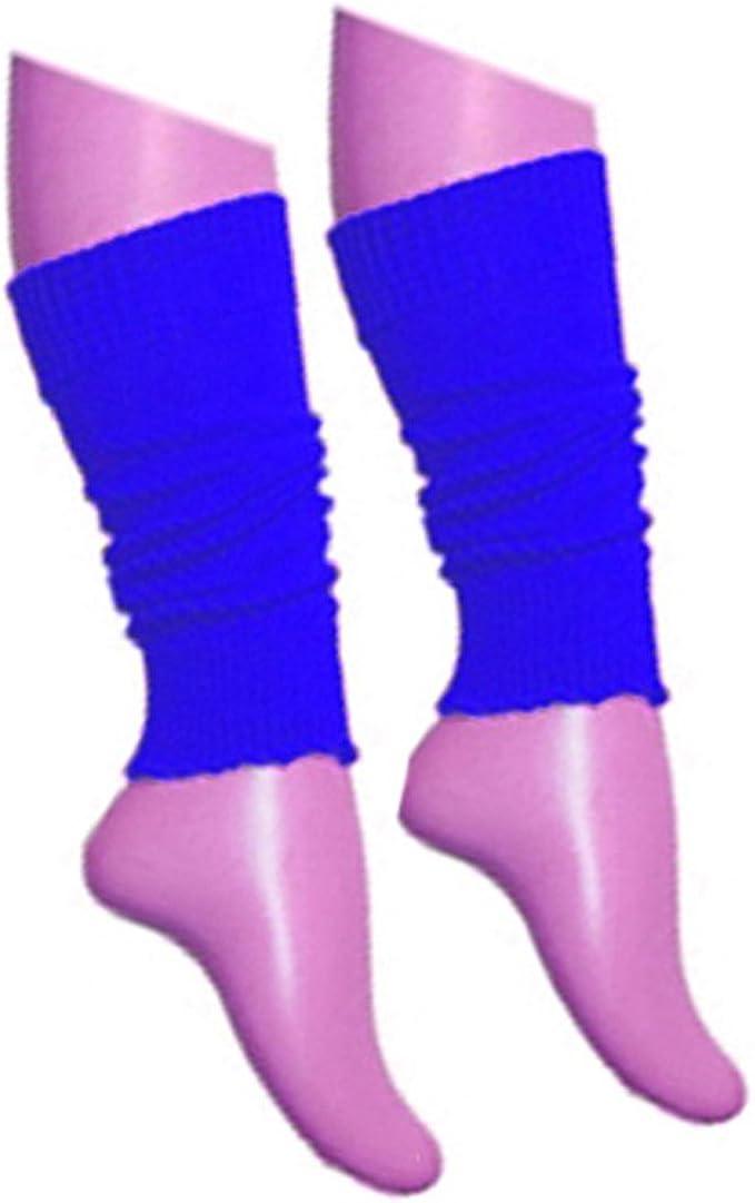 GIRLS TEEN 80/'S DANCE WEAR STRIPED RIBBED LEG WARMERS LEGWARMER FANCY DRESS NEON