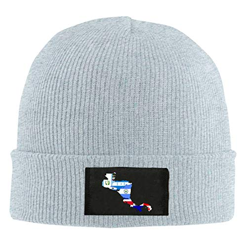 Map The National Flag Central America Unisex Warm Winter Wool Hat Knit Beanie Skull Cap (Maps Central)
