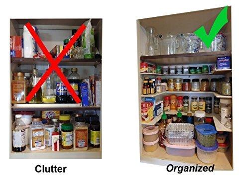 "Customized Spice Shelf & Cabinet Organizer – 3/16"" Baltic Birch or Acrylic, Custom Cut & U-Shaped – Easy-Access, Heavy Duty, & Flush Fit Spice Rack / Kitchen Organizer – Single or Multi-tiered – 2 Set (Birch Flush)"