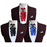 Fuerjia 3Pcs/Set Mens Bow Ties for Wedding Party Pure color Adjustable Pre Tied Bow Ties Wholesale (H-14)