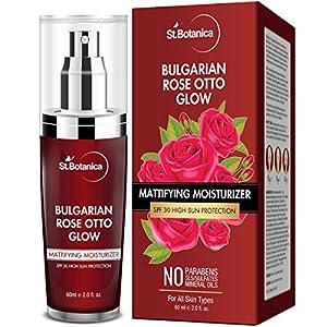 StBotanica Bulgarian Rose Otto Glow Mattifying Moisturizer Spf 30 For Oily, Acne Prone or Sensitive Skin, 60 ml…