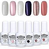 Perfect Summer New Colors Gel Polish Nail Varnish 6PCS Popular Colors Collection UV LED Manicure Set 8ML #015