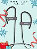 Bluephonic Bluetooth Wireless Headphones | HD Stereo Beats Sound | IPX7 Sweat & Water Proof Fit In Ear Workout Sport Earbuds | Noise Cancelling Running Earphones | Built In Mic | Play 8 hr