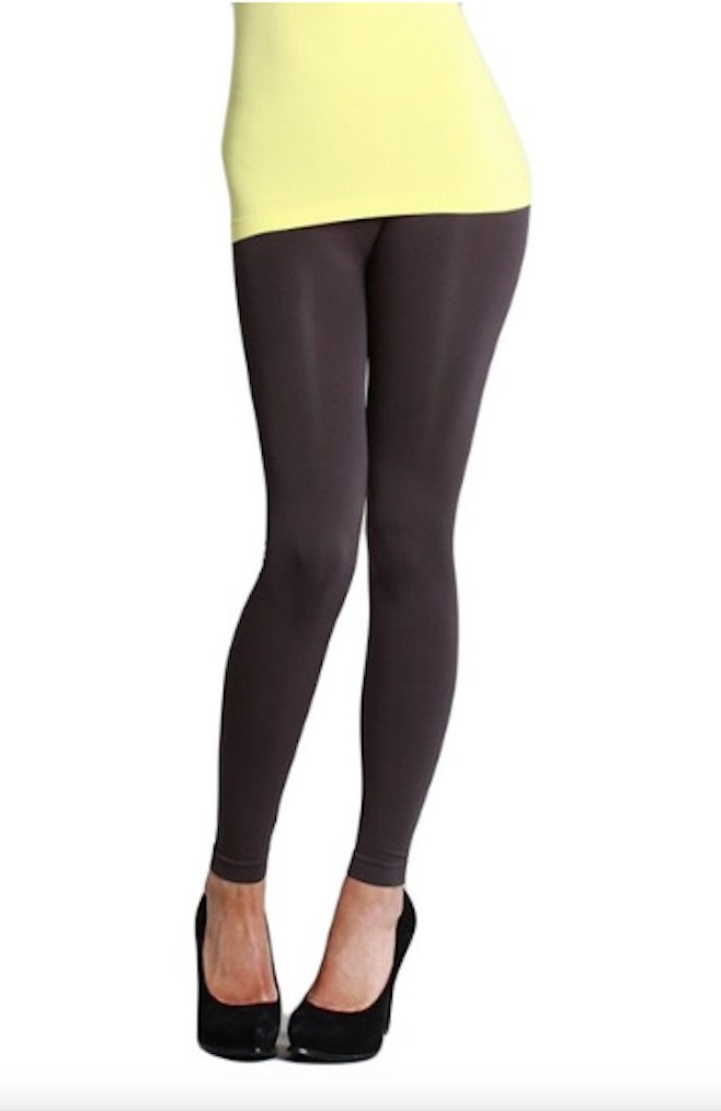 Nikibiki Long Smooth Leggings Charcoal,Black,One Size
