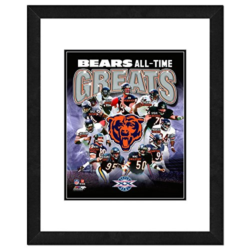 NFL Chicago Bears Men's All Time Greats Framed Photo, One Size, Multicolor