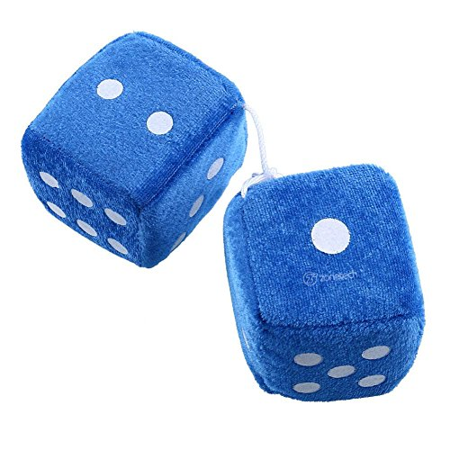 Zone Tech Light Blue Hanging Dice -