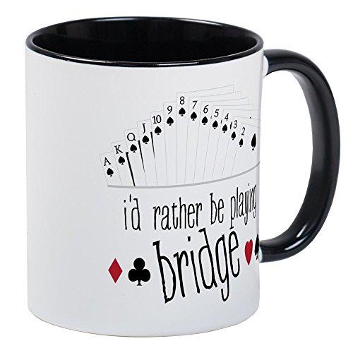 (CafePress - Id Rather Be Playing Bridge Mugs - Unique Coffee Mug, Coffee Cup )
