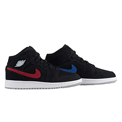 separation shoes d5742 62760 NIKE AIR Jordan 1 MID (GS) Girls Fashion-Sneakers 554725-065 4Y -