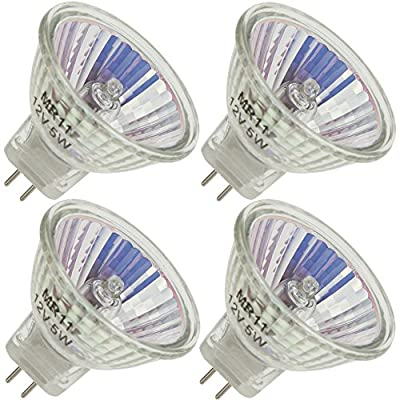 Industrial Performance JCR/M 12V 5W, 5 Watt, MR11, Bi-Pin (G4) Base Light Bulb (4 Bulbs)