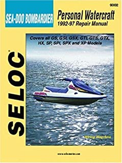sea doo water vehicles shop manual 1988 1996 clymer personal rh amazon com 1995 seadoo speedster repair manual 1995 Seadoo Speedster Seats Carpet
