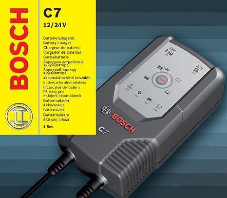 Bosch 0189999070 C7 - Cargador de batería con microprocesador (12 ...