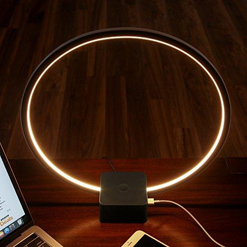 Brightech Circle Led Usb Table Amp Desk Lamp Bright Orb