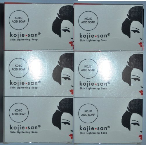 6 Bars Kojie San Kojic Acid Soap 100 grams per bar original kojie san bleaching soap for dark skin