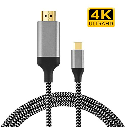 Thunderbolt to HDMI Sikeda 4K@60HZ USB Type C to HDMI Cable Adapter (Compatible with Thunderbolt 3) for 2017/2016 Macbook Pro, 2017 iMac, Galaxy S8/S8+, LG G5, Google Chromebook Pixel, TV/Monitor