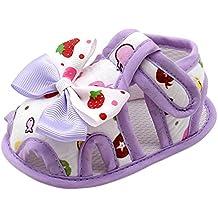 Herekind Summer Newborn Baby Girls First Walkers Bow-Knot Printed Princess Breathable Shoes Prewalkers 0-18M