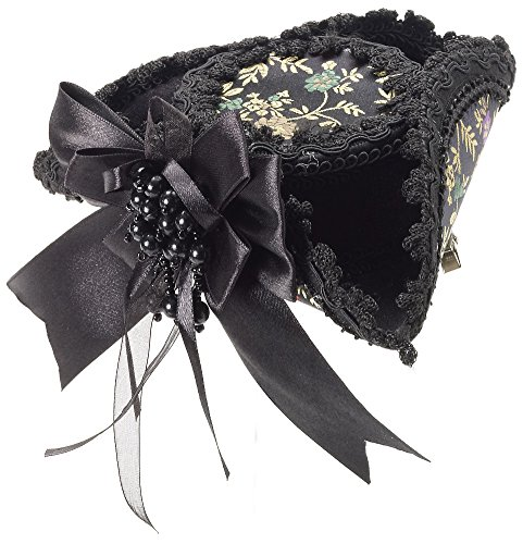 Mini Party Pirate Hat (Black Victorian Mini Pirate Hat)