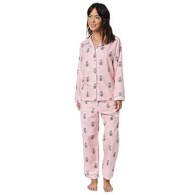 5dcd6d3338 The Cat s Pajamas Queen Bee Pink Flannel Pajama at Amazon Women s ...