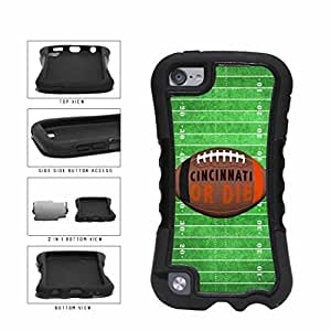 Cincinnati or Die Football Field 2-Piece Dual Layer Phone Case Back Cover Apple iPod Touch 5th Generation