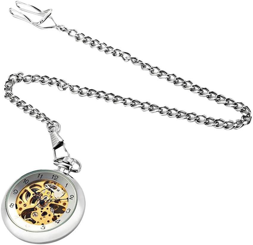 IPOTCH Elegnate Reloj de Bolsillo Reloj Mecánico Hombre Relojes Decorativos para Ropas de Mujer