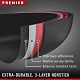 """Calphalon Premier Space Saving Nonstick 12"""" Fry Pan with Cover"""
