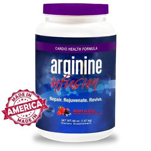 L-Arginine Plus Raspberry 6-Pack – 1 Natural Blood Pressure Supplement, Better Cholesterol, More Energy – Heart Health Supplement 13.4 oz