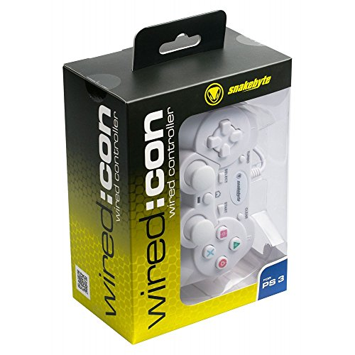 Snakebyte Wired Controller - Gamepad Including Vibration & Turbo Feature - Cable Length: 2m - White - PlayStation 3