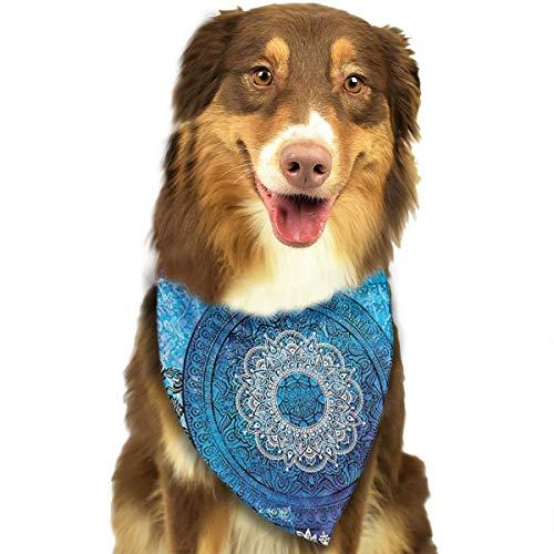 - FBHA Indian Batik Hippie Pet Bandana Washable Reversible Triangle Bibs Scarf - Kerchief for Small/Medium/Large Dogs & Cats