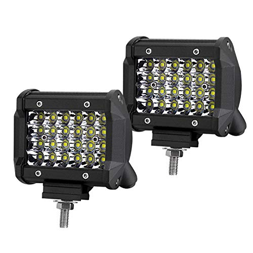 """TERRAIN VISION 4"""" Inch Quad Row Cube Pods LED Spot Lights Offroad LED Drving Fog Lights for ATV Truck Jeep 4X4 Boat Polaris RZR GMC Sierra Toyota Tacoma Ford F150 F250 Chevy"""