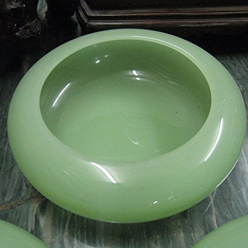 OLQMY High grade jade ashtray, carved artificial stone, jade ashtray, stone carving ashtray,20 20 6cm