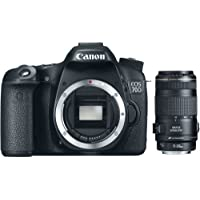 EOS 70D 20.2MP Digital Camera (Body Only) and EF 70-300 f/4-5.6 IS USM Telephoto Zoom Lens