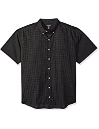 Van Heusen Mens Big and Tall Wrinkle Free Short Sleeve Button Down Twill Shirt Button Down Shirt