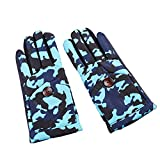 #9: BAOBAO Kids Waterproof Warm Gloves Camouflage Non Slip Thick Full Finger Gloves