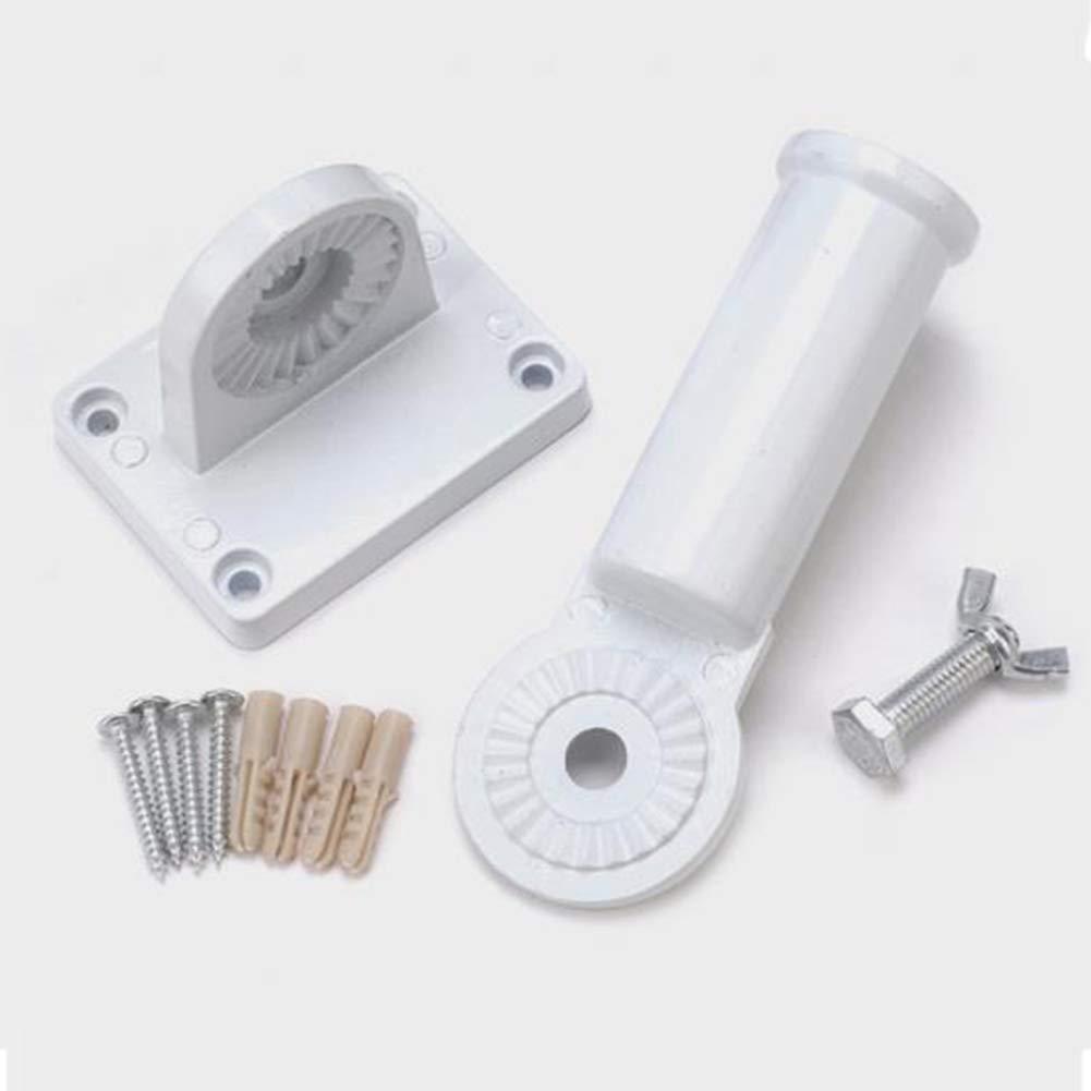Fahnenhalter Fahnenmasthalter aus Metall mit Schrauben zur Wandmontage Bclaer72 Einstellbare Fahnenmasthalterung Hochleistungs-Aluminium-Allwetter White
