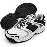 Vector X Pro Speed 001 Cricket Shoes (White/Black/Silver)