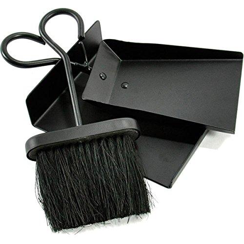 WoodEze FT6001BA Fireplace Shovel and Brush Set With Ash Pan
