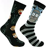 Rick And Morty 2 Pack Casual Crew Socks