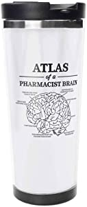 Atlas Of A Pharma Stainless Steel Travel Mug, Insulated 15oz Coffee Tumbler