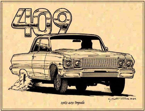 1963 409 Chevrolet Impala Art Print