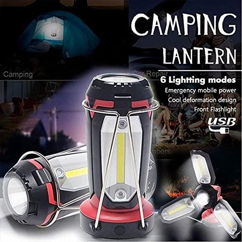 Fdrirect Lanterna de campismo LED recarregável, 1200mAh luzes de acampamento lanternas luzes de emergência de…