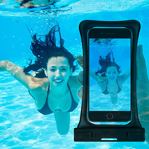 [Floating] Waterproof Phone Pouch, RANVOO Dry Bag Case for iPhone X 8 8 Plus 7 7 plus 6 6s 6 Plus, Samsung Galaxy S9 Plus S8 Edge Note 7, LG G5 G6,with Armband and Lanyard, Up to 6.2''- Black by RANVOO (Image #7)